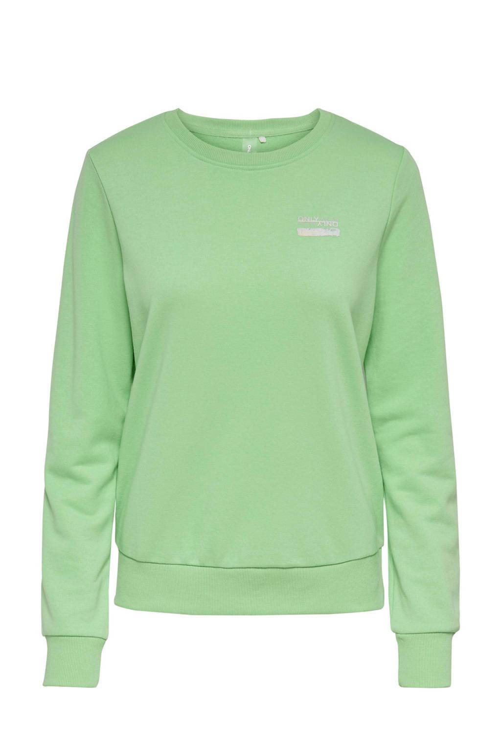 ONLY PLAY sportsweater limegroen, Limegroen