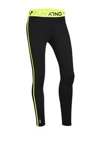 ONLY PLAY sportbroek zwart/geel, Zwart/geel