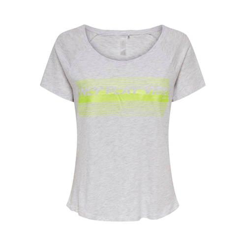 ONLY PLAY sport T-shirt grijs melange