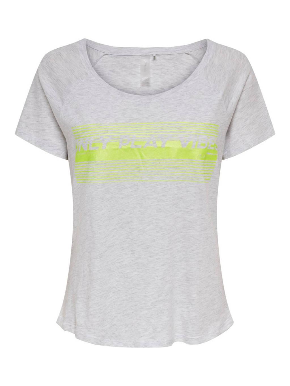 ONLY PLAY sport T-shirt grijs melange, Grijs melange