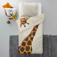 Wehkamp Home katoenen peuterdekbedovertrek Giraf, Peuter (120 cm breed)