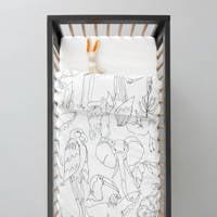 whkmp's own dekbedovertrek ledikant, Zwart/wit, Baby (100 cm breed)