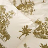Wehkamp Home katoenen dekbedovertrek lits jumeuax, Lits-jumeaux (240 cm breed), Groen