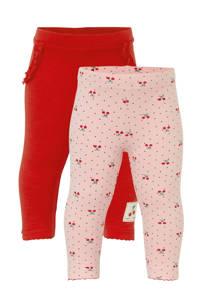C&A Baby Club broek - set van 2 rood/lichtroze, Rood/lichtroze