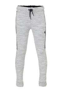 C&A Here & There   joggingbroek met textuur lichtgrijs/donkerblauw/wit, Lichtgrijs/donkerblauw/wit