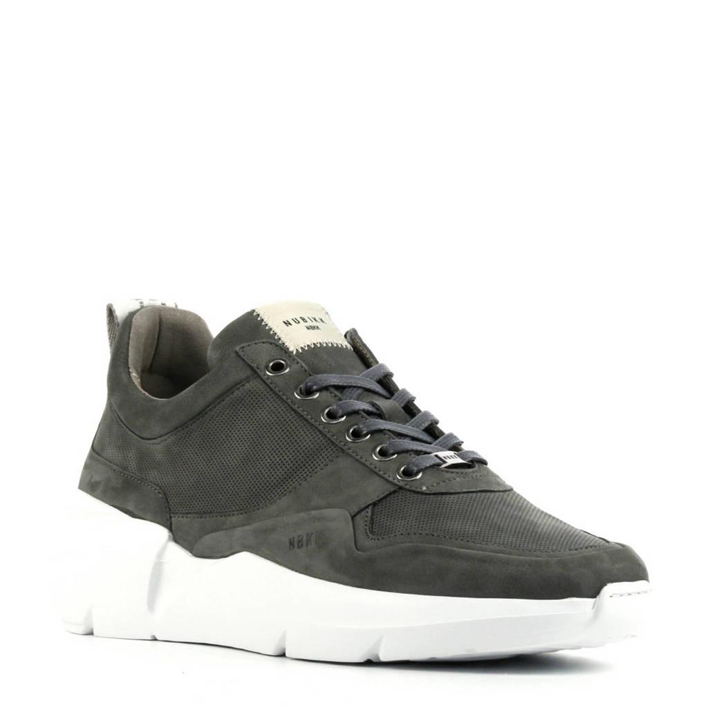 Nubikk Elven Tanuki  nubuck sneakers grijs, Grijs