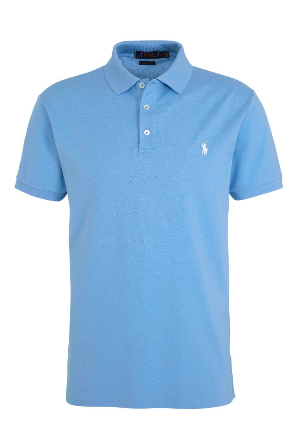 POLO Ralph Lauren slim fit polo lichtblauw, Lichtblauw