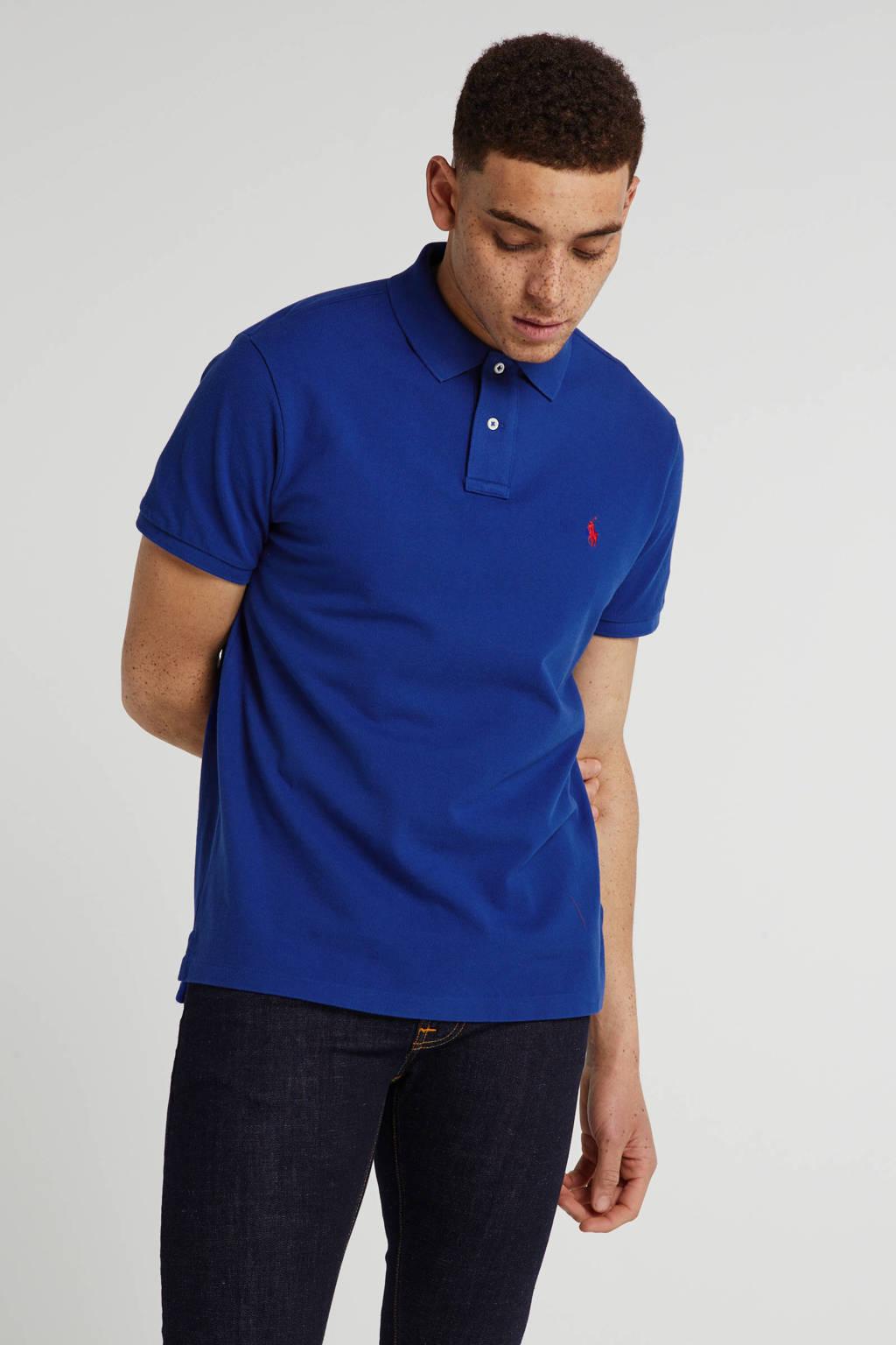 POLO Ralph Lauren slim fit polo donkerblauw, Donkerblauw