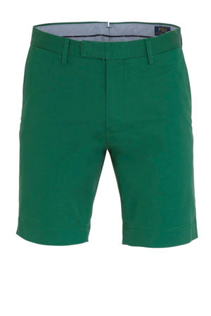 slim fit bermuda groen