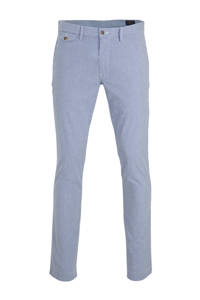 POLO Ralph Lauren gestreepte slim fit pantalon blauw/wit, Blauw/wit
