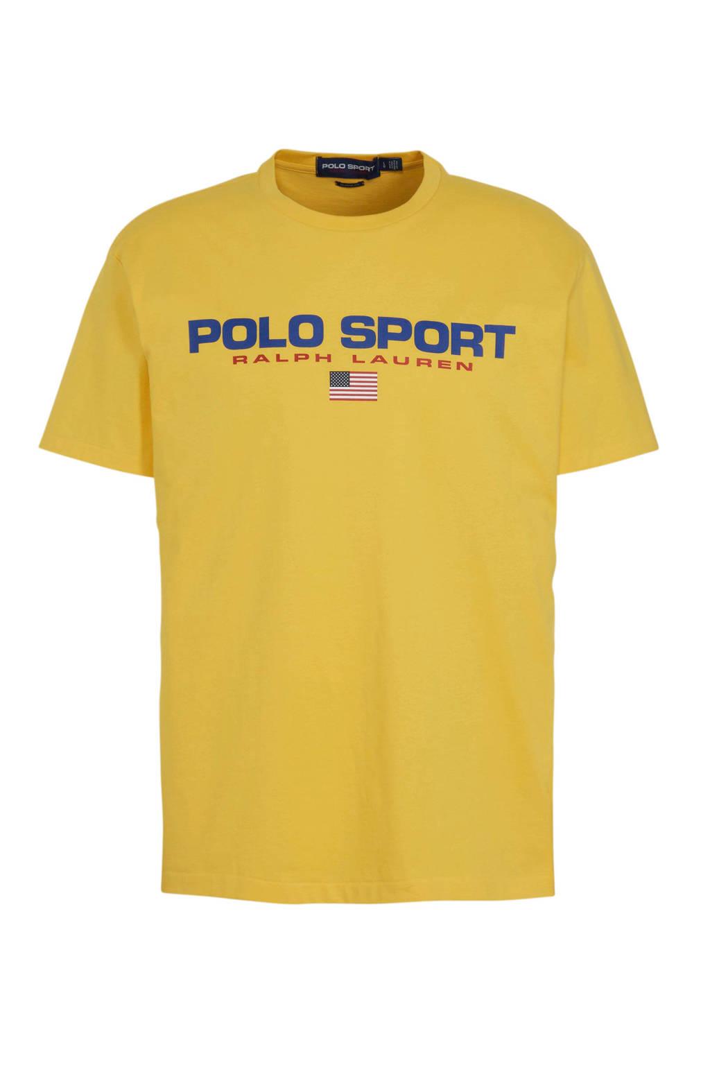 POLO Ralph Lauren T-shirt met logo geel, Geel
