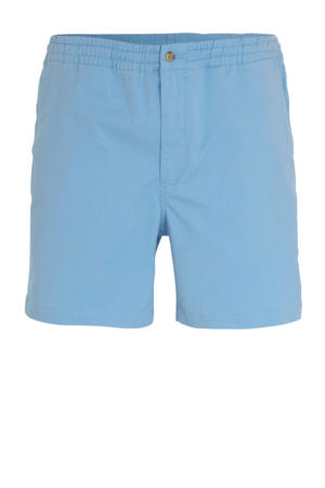 slim fit sweat short blauw