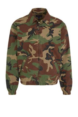 zomerjas met camouflageprint groen