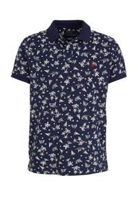 POLO Ralph Lauren regular fit polo met all over print donkerblauw, Donkerblauw