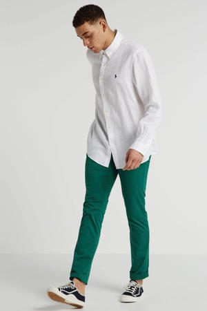 slim fit chino groen