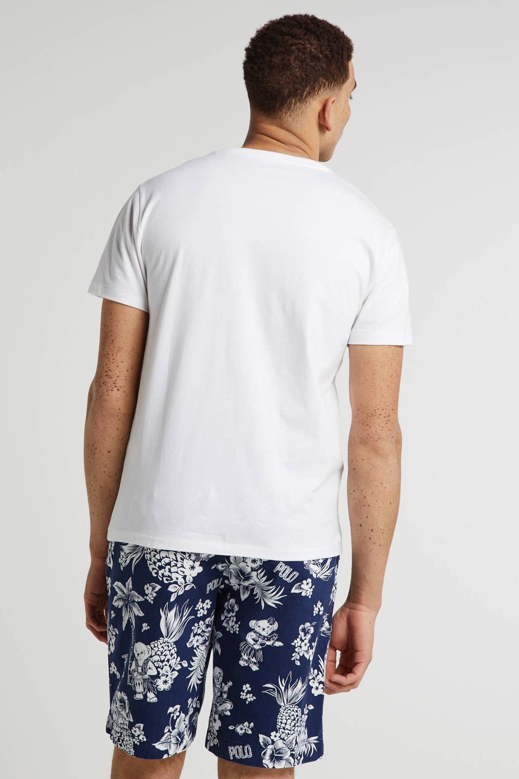 POLO Ralph Lauren slim fit bermuda met all over print blauw, Blauw