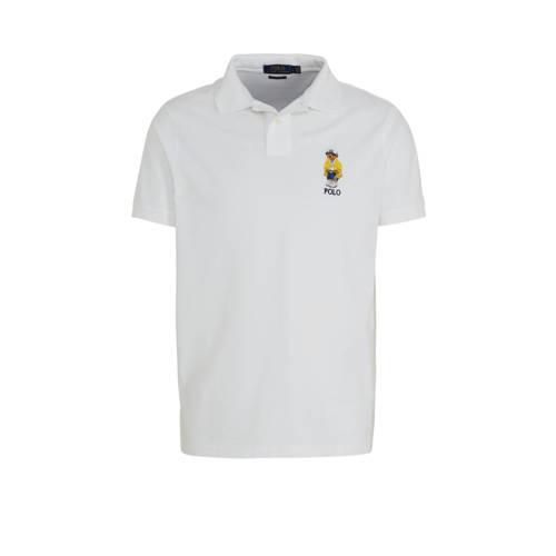 POLO Ralph Lauren slim fit polo met logo wit