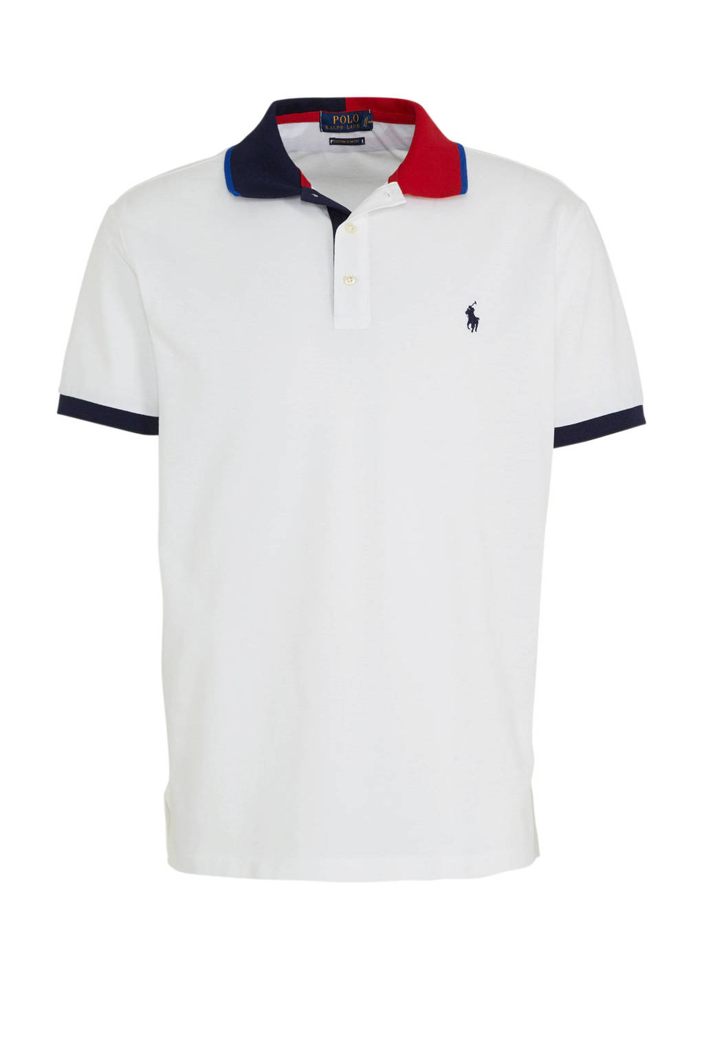 POLO Ralph Lauren slim fit polo wit, Wit