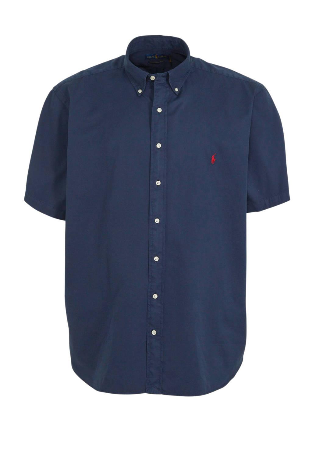 POLO Ralph Lauren Big & Tall +size regular fit overhemd donkerblauw, Donkerblauw
