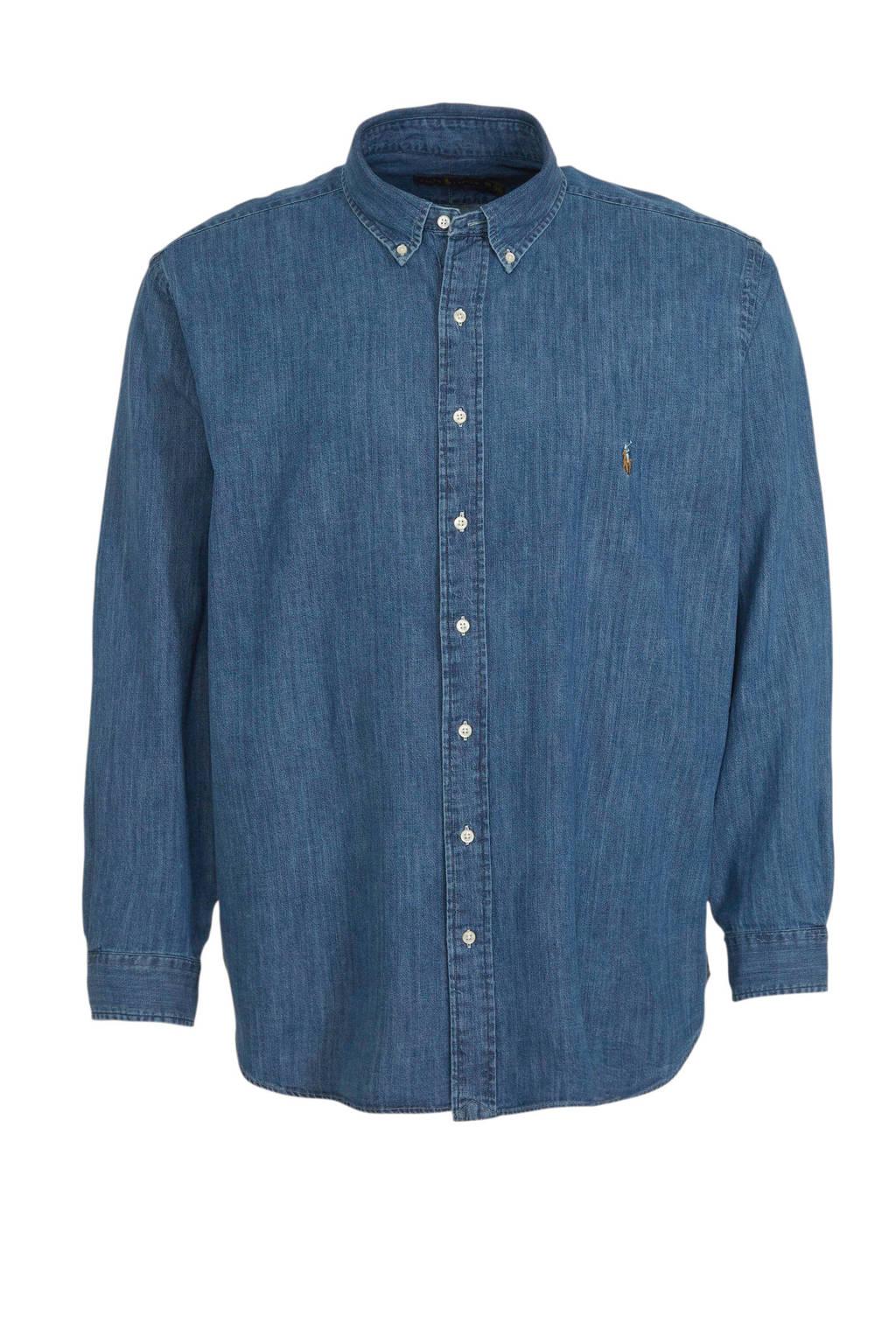 POLO Ralph Lauren Big & Tall +size regular fit overhemd blauw, Blauw