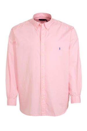 +size regular fit overhemd roze