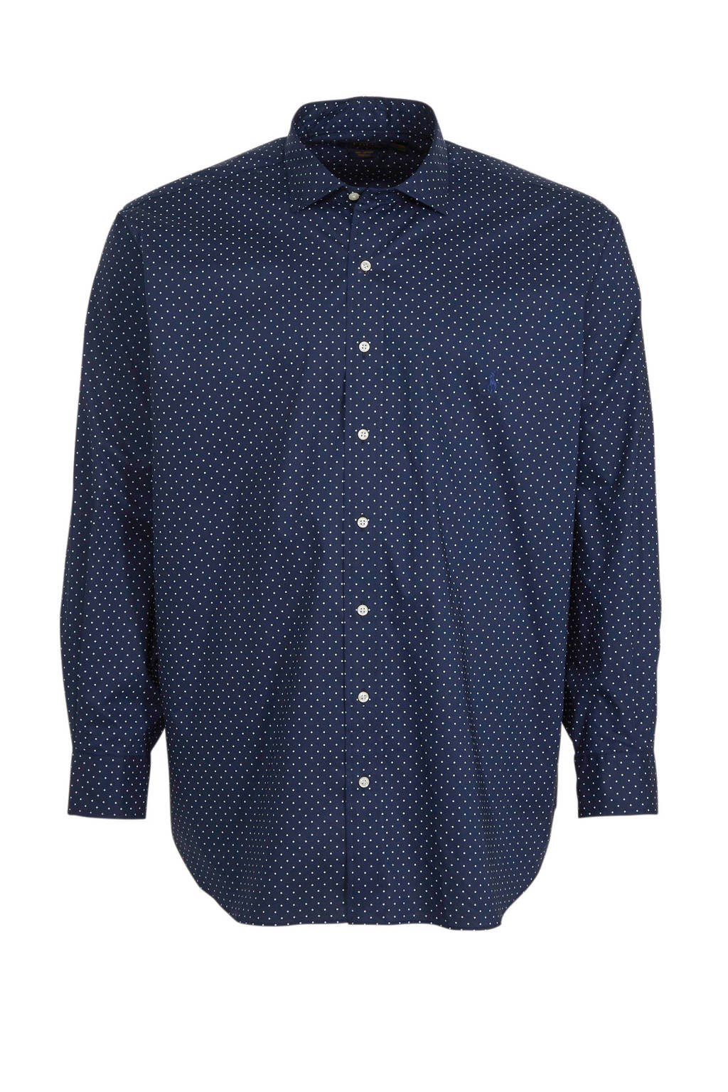 POLO Ralph Lauren Big & Tall +size regular fit overhemd met all over print donkerblauw, Donkerblauw
