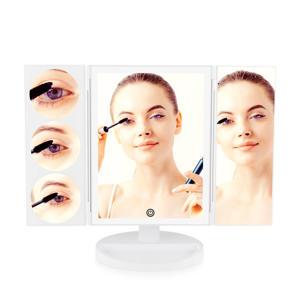 Multi-vergrotende verlichtende make-up spiegel