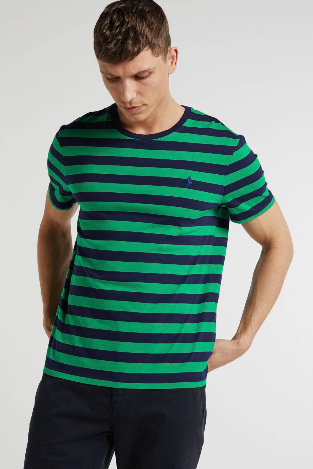 POLO Ralph Lauren gestreept T-shirt groen, Groen