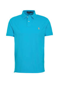 POLO Ralph Lauren slim fit polo turquoise, Turquoise