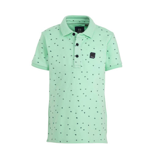 Indian Blue Jeans polo met all over print mintgroe