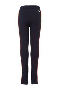 Indian Blue Jeans skinny broek met zijstreep donkerblauw/wit/oranje, Donkerblauw/wit/oranje
