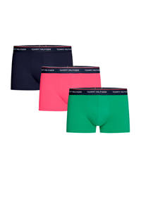 Tommy Hilfiger boxershort (set van 3), Groen/zwart/roze