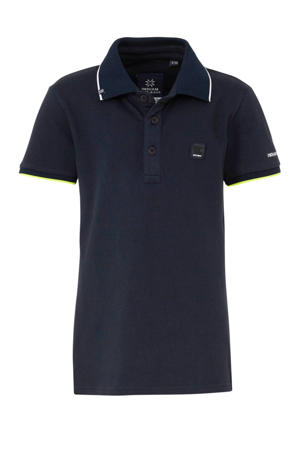 polo donkerblauw/wit/geel
