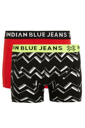 boxershort - set van 2 rood/zwart
