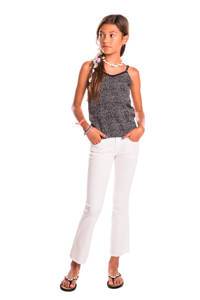 Indian Blue Jeans top met all over print zwart/wit, Zwart/wit