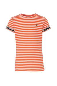 Indian Blue Jeans gestreept T-shirt oranje/wit/zwart, Oranje/wit/zwart