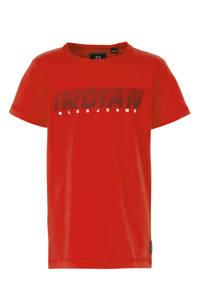 Indian Blue Jeans T-shirt met tekst rood/zwart, Rood/zwart