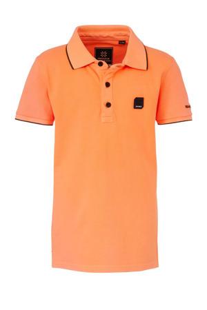 polo oranje/zwart