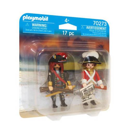 Playmobil Duo Pack Piratenkapitein en Roodroksoldaat 70273