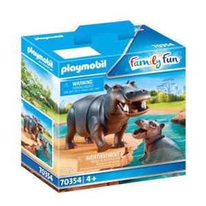 Nijlpaard met baby 70354