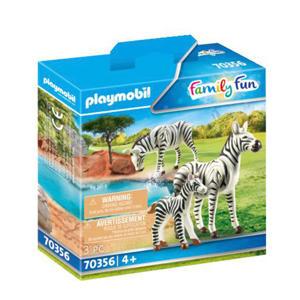 2 zebra's met baby 70356