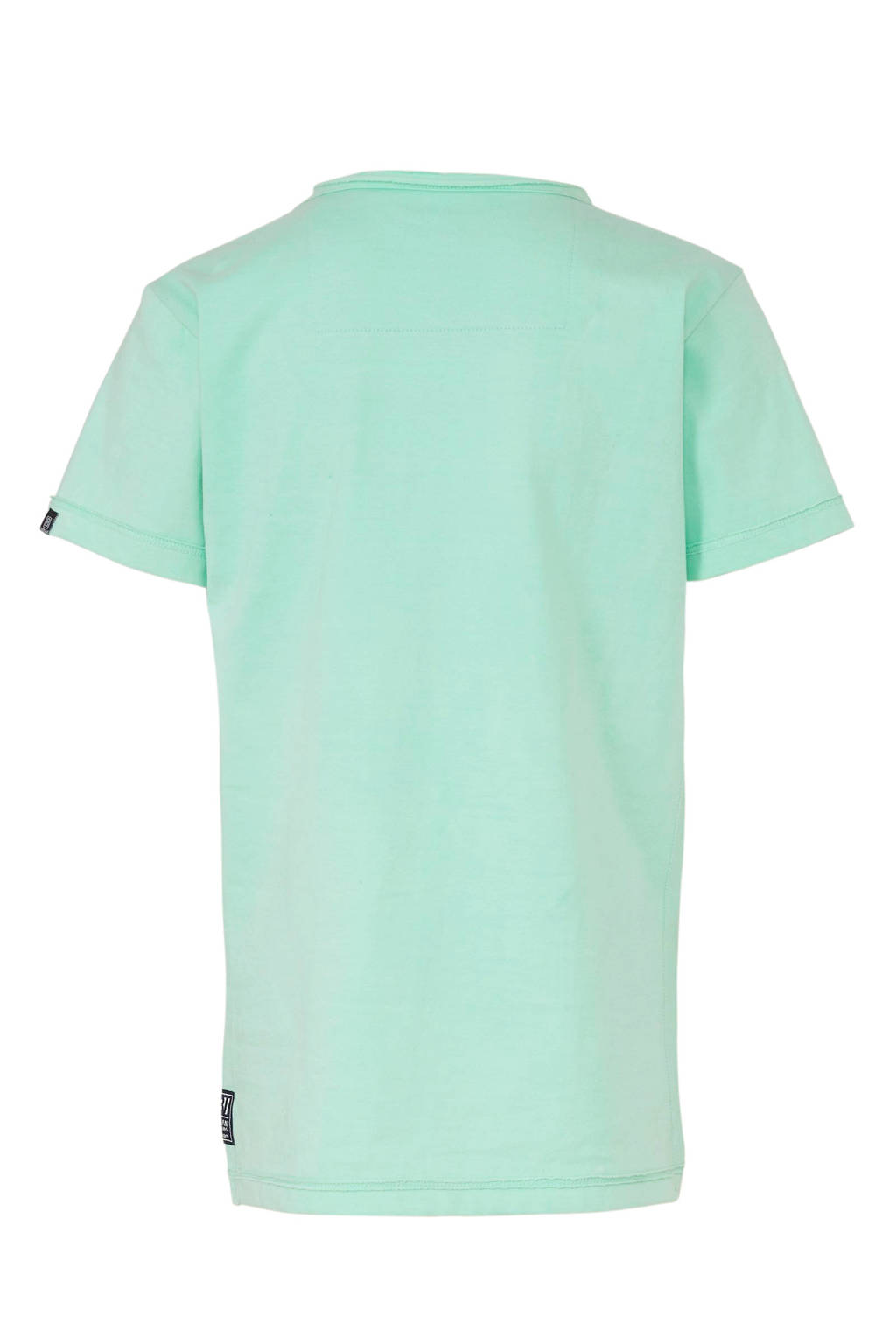 Indian Blue Jeans T-shirt met tekst mintgroen/donkerblauw, Mintgroen/donkerblauw