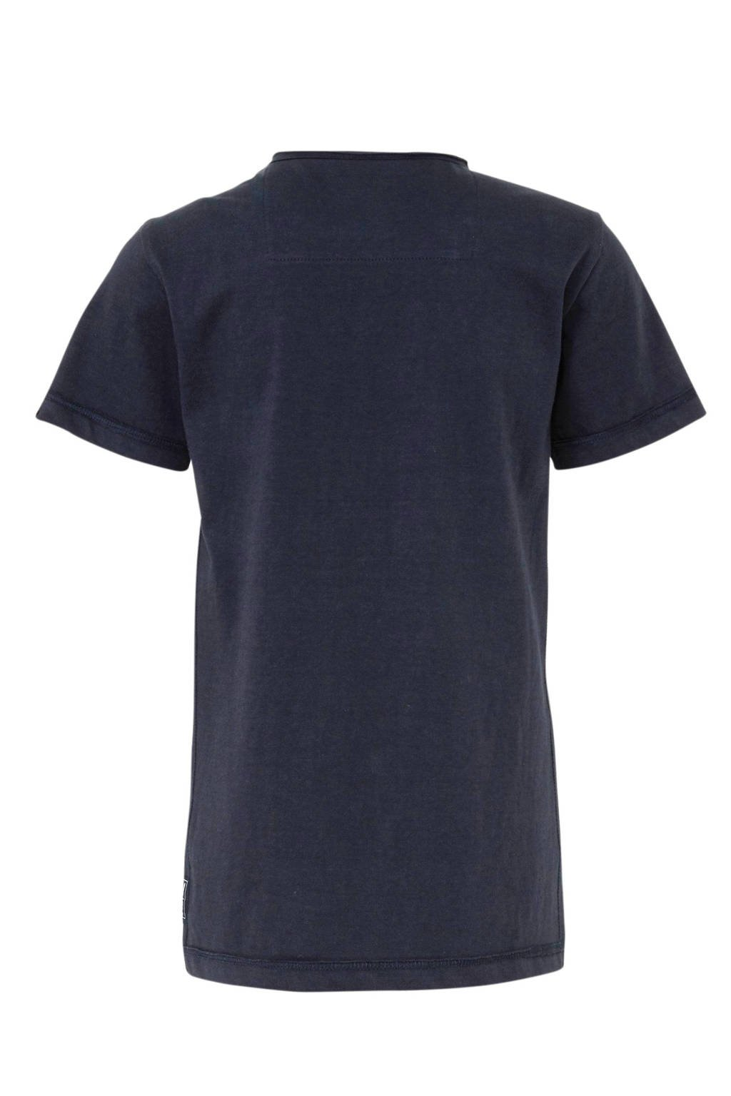 Indian Blue Jeans T-shirt met tekst donkerblauw/wit, Donkerblauw/wit