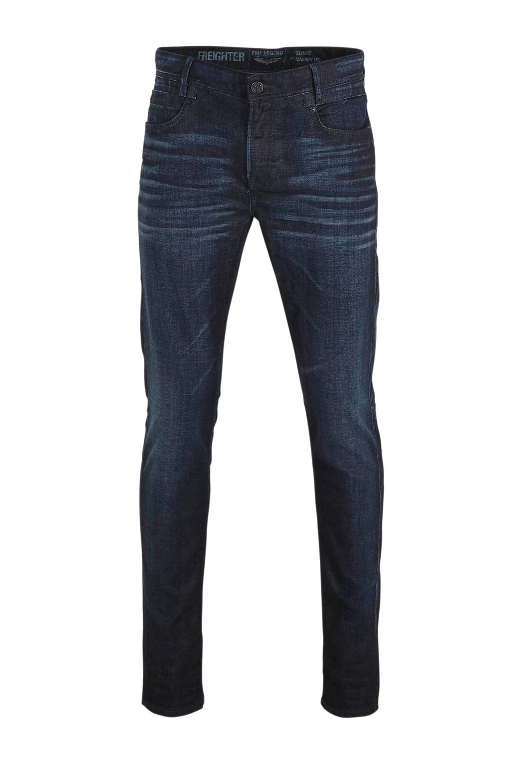 PME Legend slim fit jeans Freighter dark blue denim, Dark blue denim