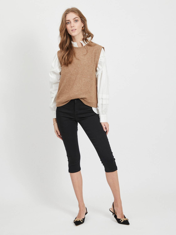 VILA high waist skinny capri jeans zwart