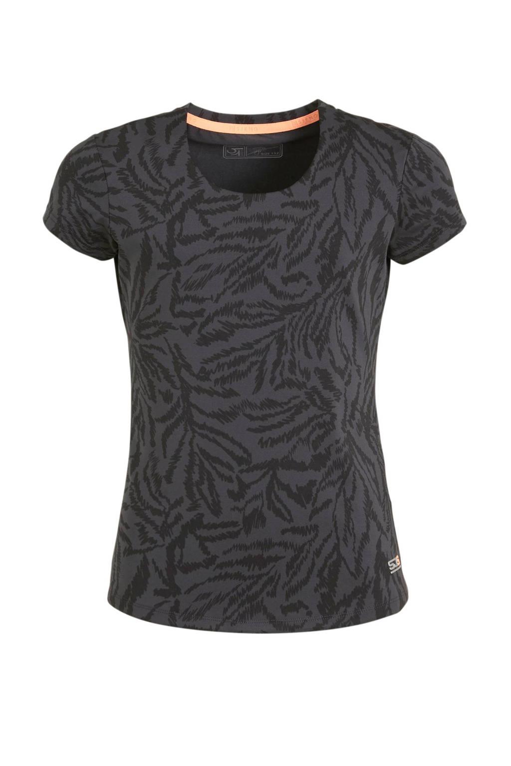 Sjeng Sports T-shirt Michelle Jr. antraciet, Antraciet