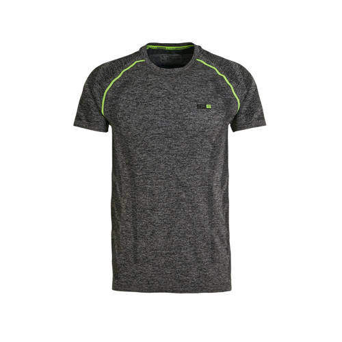 Sjeng Sports T-shirt Marcello grijs melange