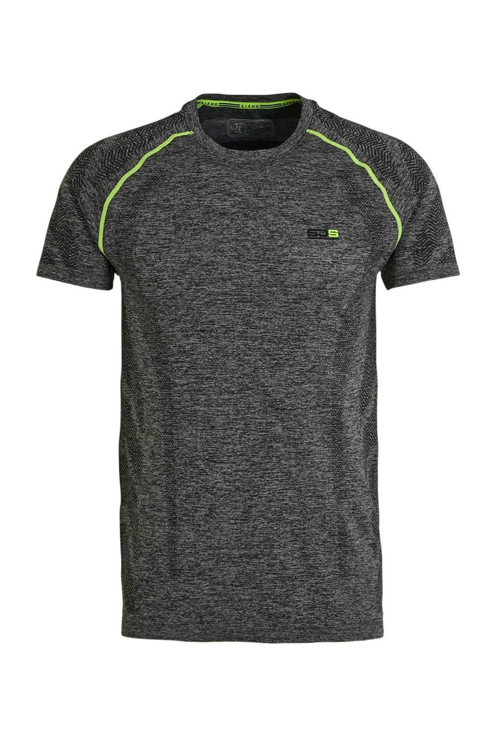 Sjeng Sports   T-shirt Marcello grijs melange, Grijs melange