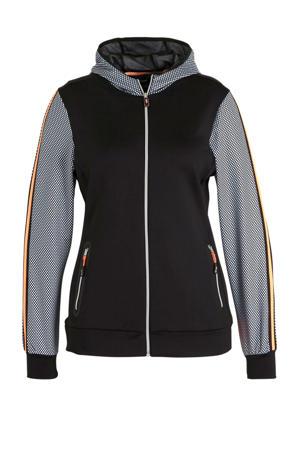 Plus Size vest zwart/wit