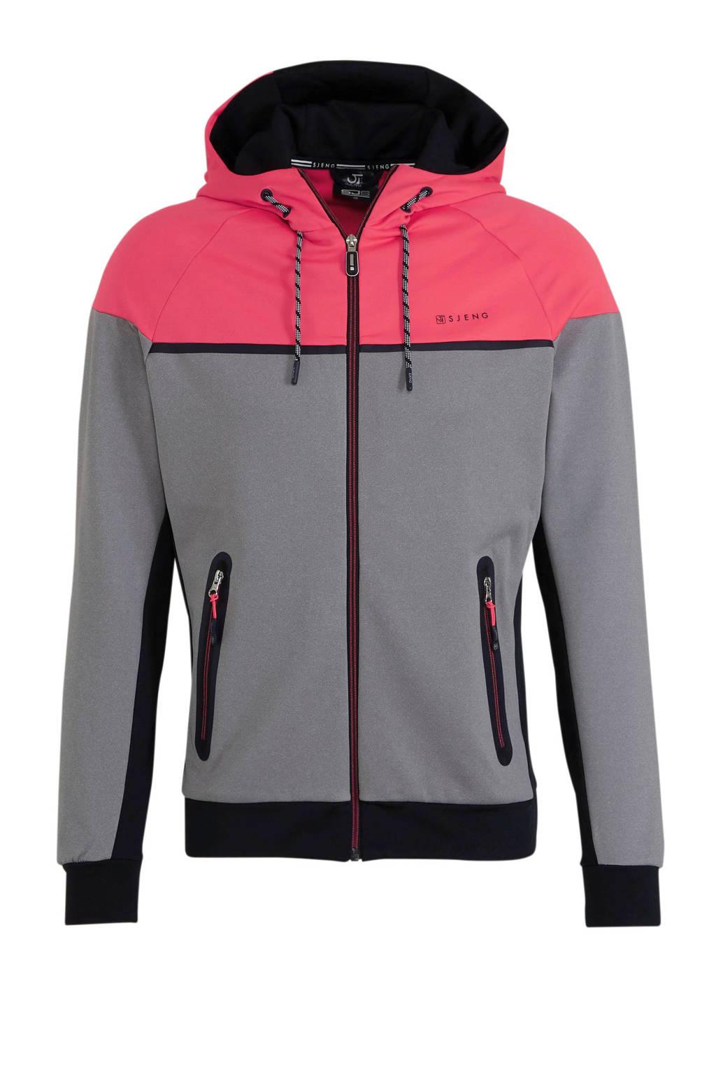 Sjeng Sports   vest grijs melange/roze, Grijs melange/roze